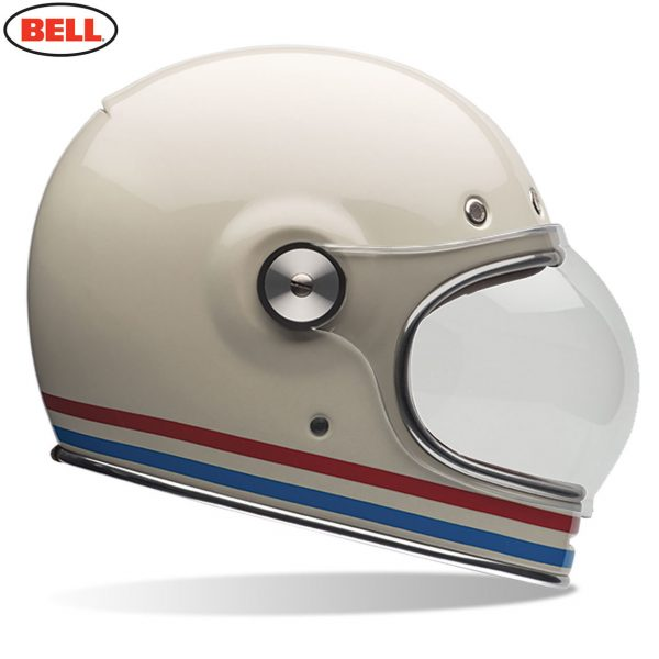 Bell Cruiser Bullitt Adult Helmet Stripes Vintage White