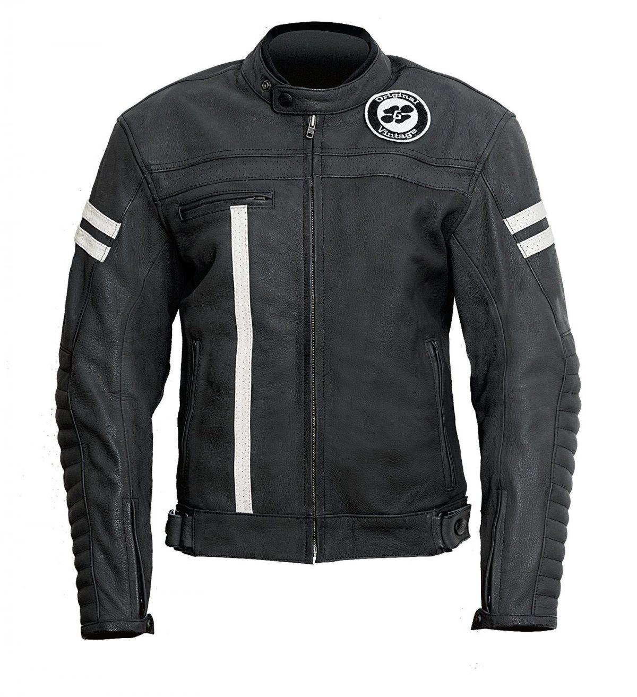 Garibaldi Moka Racer Vintage Black Leather Mens Jacket