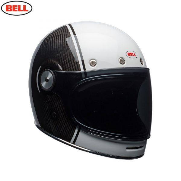 Bell Cruiser 2018 Bullitt Carbon Adult Helmet (Carbon Pierce BlackWhite)