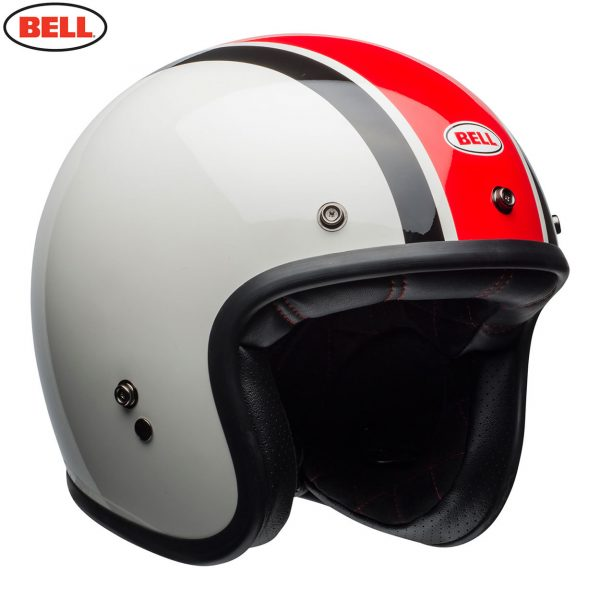 Bell Cruiser 2018.1 Custom 500 SE Deluxe Adult Helmet (Ace Cafe Stadium WhiteRedBlack)
