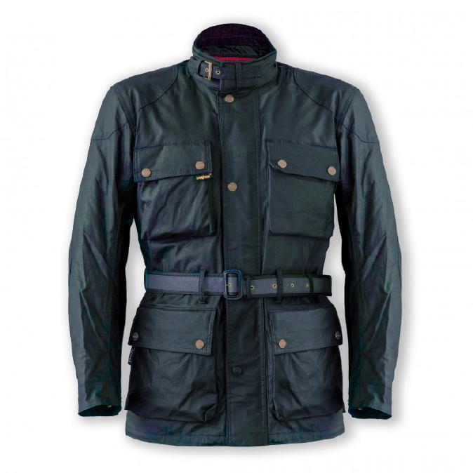 Garibaldi Heritage 1972 Wax Cotton look Mens Jacket CE EN17092 Blue
