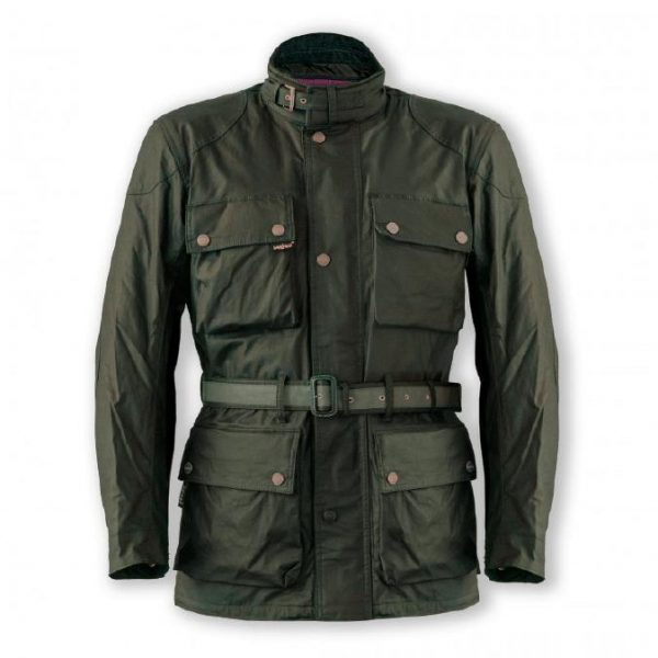 Garibaldi Heritage 1972 Wax Cotton look Mens Jacket CE EN17092 Green