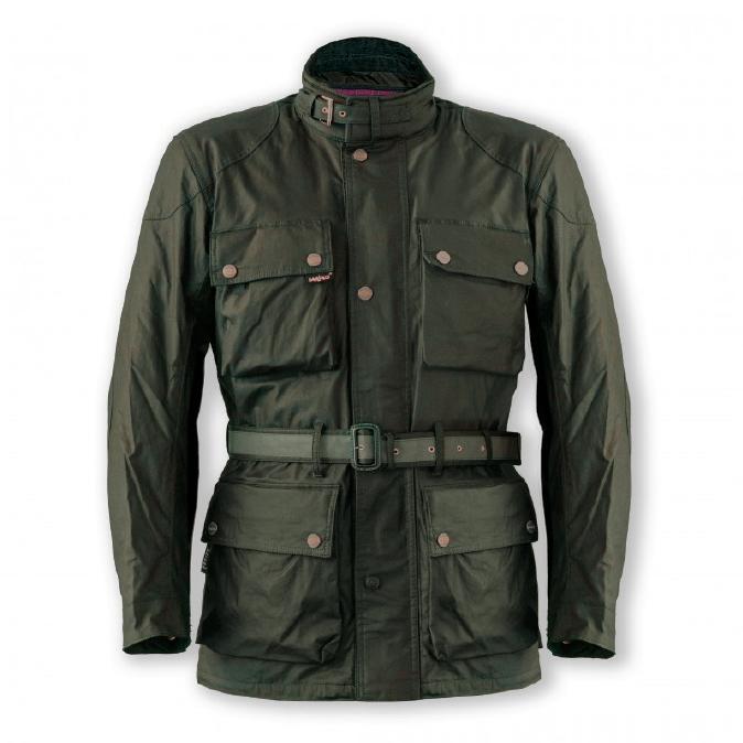 Garibaldi Heritage 1972 Wax Cotton look Mens Jacket CE EN17092 Green