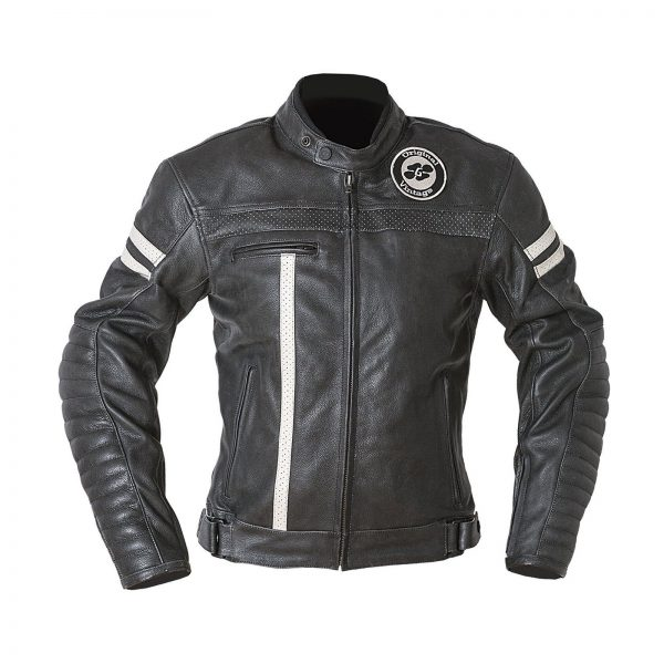 Garibaldi Moka Racer Vintage Black Leather Ladies Jacket