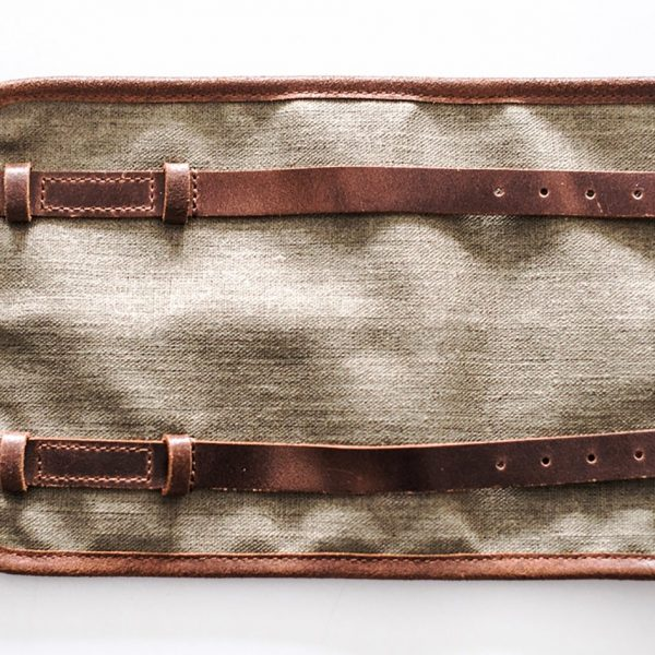 Crave tool-roll brown canvas