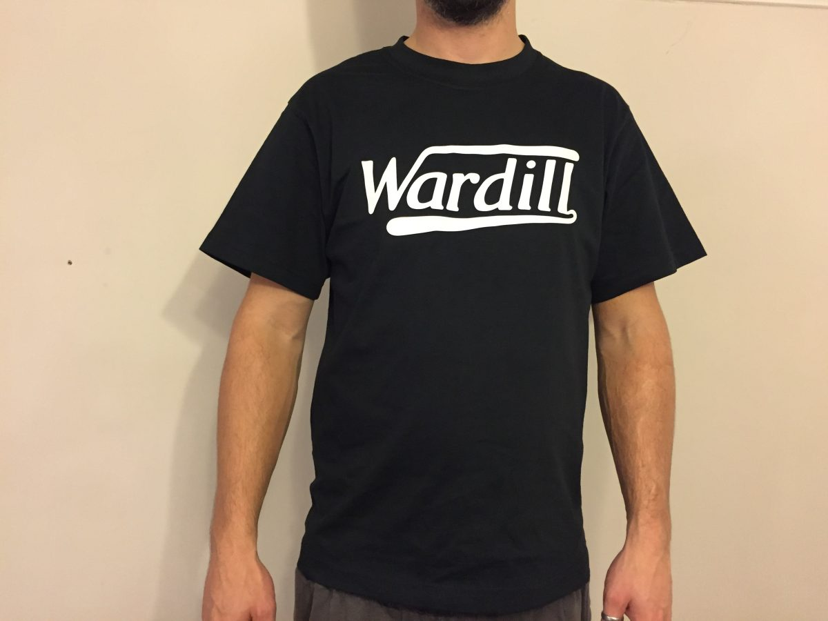 Wardill Motorcycle T-Shirt Vintage Black White Retro